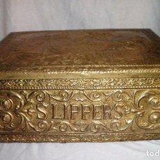 Antigüedades: ANTIGUO ARCÓN - MADERA Y METAL REPUJADO - EXCEPCIONAL.. Lote 83053280