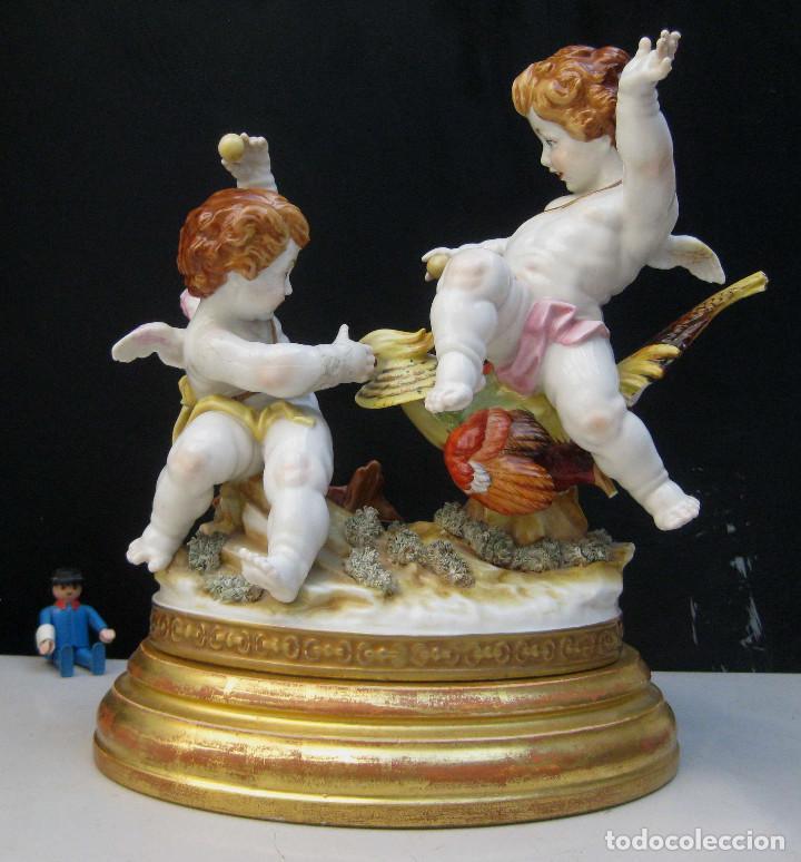 Antigüedades: MUY RARA FIGURA ANTIGUA ORIGINAL ANGELES ALGORA JUGANDO CON PAJARO - Foto 2 - 151836562
