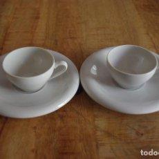 """Antigüedades: LOTE DE 2 TAZAS DE CAFE + PLATOS """"IT SANTANDER"""" / LOT OF 2 CUPS """"IT SANTANDER"""". Lote 83098952"""