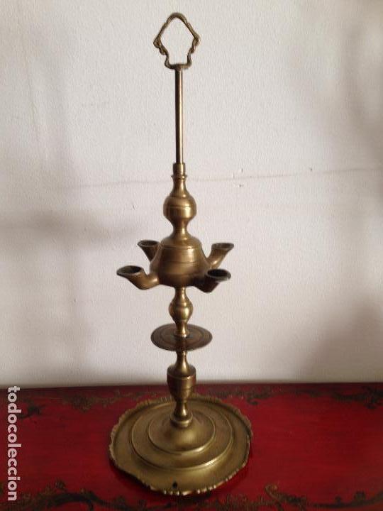 Antigüedades: ANTIGÜO Y GRANDE VELÓN EN BRONCE - Foto 5 - 83104200
