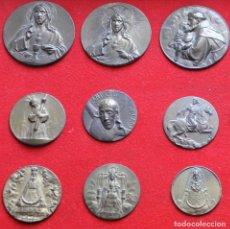 Antigüedades: CUADRO ENMARCADO CON 31 MEDALLAS. Lote 83119016