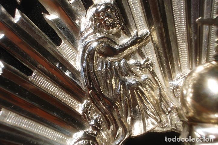 Antigüedades: EXTRAORDINARIA CORONA DE PLATA DE LA SANTÍSIMA TRINIDAD SXIX - Foto 3 - 83120228