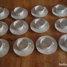 """Antigüedades: LOTE DE 12 TAZAS DE CAFE + PLATOS """"EMMA"""" / LOT OF 12 CUPS """"EMMA"""". Lote 83127908"""