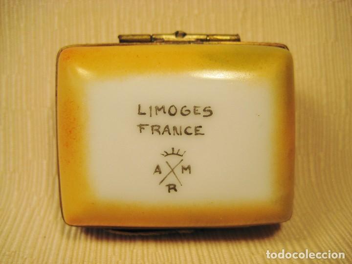 Antigüedades: Caja de porcelana de Limoges pintada a mano. Rectangular Miró - Foto 4 - 83134056