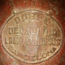Antigüedades: ANTIGUA MESURA MEDIDOR DE GRANO. A. MAGGI . BARCELONA. Lote 83145484