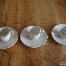 """Antigüedades: LOTE DE 3 TAZAS DE CAFÉ + PLATOS """"SAN CLAUDIO"""" / LOT OF 3 CUPS """"SAN CLAUDIO"""". Lote 83145832"""