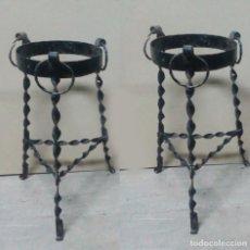 Antigüedades: PAREJA DE MACETEROS ANDALUCES DE FORJILLA. Lote 83162380