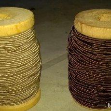 Antigüedades: 2 BOBINAS ANTIGUAS DE MADERA HILO DE OJALAR BRASULI. Lote 83195268