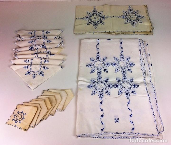 Set de dos manteles de 6 8 servicios lino bord comprar - Manteles de lino ...