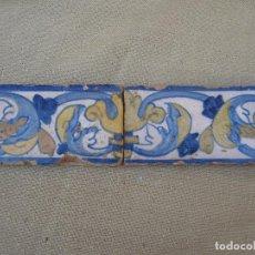 Antigüedades: LOTE DE DOS AZULEJOS ANTIGUOS DE TALAVERA / TOLEDO -FINAL S/XVI -. Lote 83282672