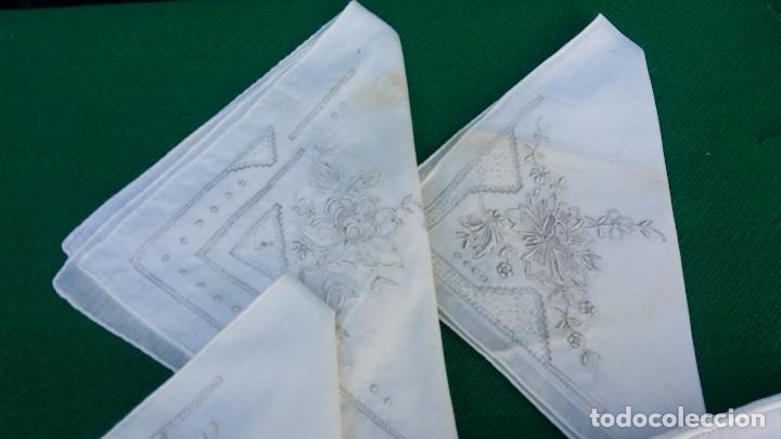 Antigüedades: 4 pañuelos bordados - Foto 2 - 83298452