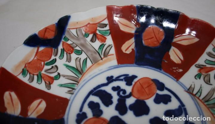 Antigüedades: PAREJA DE PLATOS DE PORCELANA JAPONESA IMARI - Foto 4 - 83298620