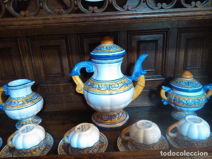 Antigüedades: Juego de cafe Talavera - Foto 9 - 80887123
