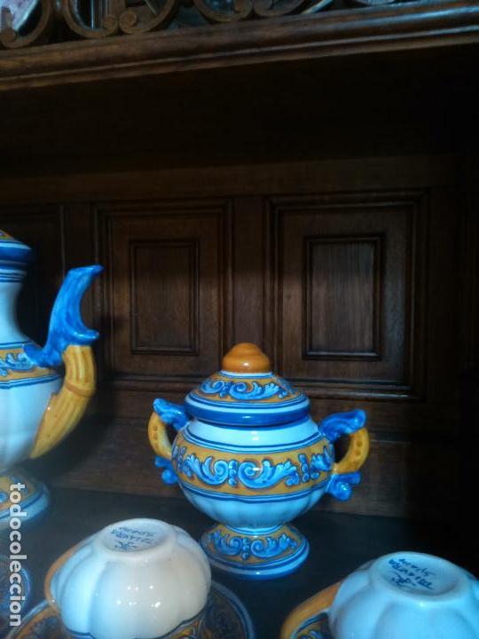 Antigüedades: Juego de cafe Talavera - Foto 11 - 80887123