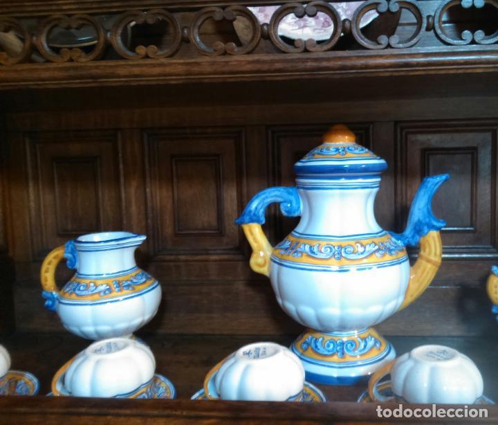 Antigüedades: Juego de cafe Talavera - Foto 12 - 80887123