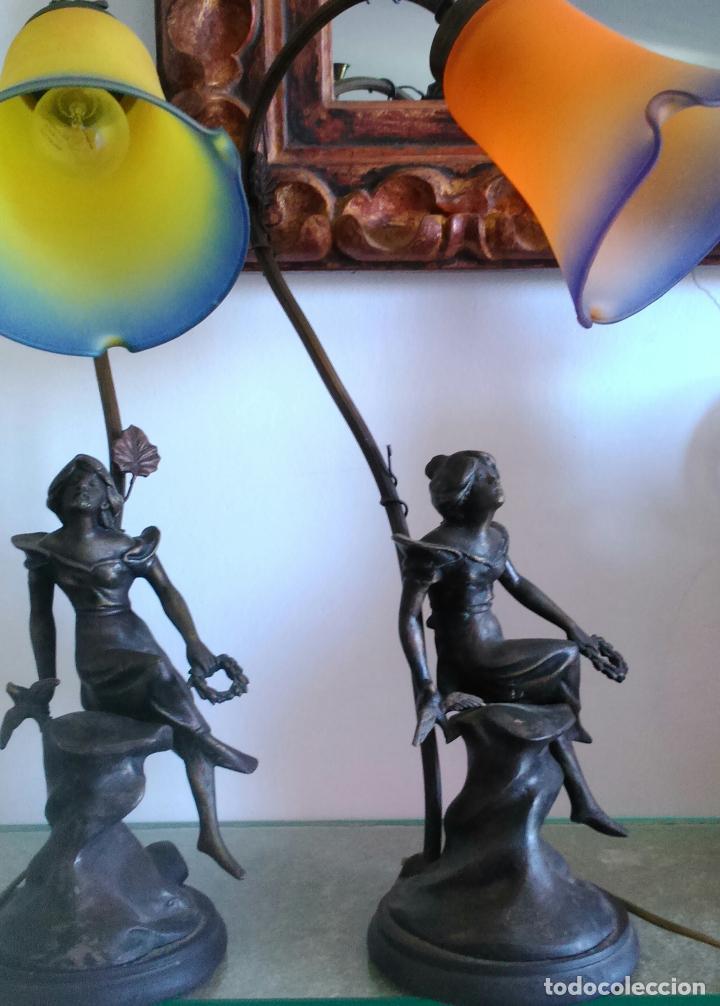 Antigüedades: Pareja lámparas sobremesa - Foto 8 - 83033244