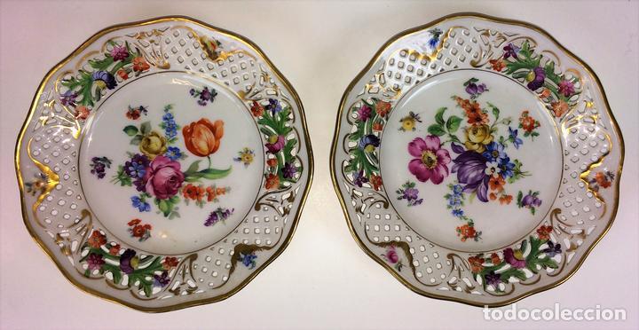 Pareja de platos decorativos porcelana schuma vendido - Platos decorativos pared ...