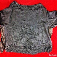 Antigüedades: BLUSA DE DAMA. GASA-CREPE DE SEDA-VISCOSA. DECORACIÓN ABALORIOS. FRANCIA 1920. Lote 83372704