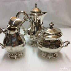 Antigüedades: JUEGO DE CAFE DE PLATA DE LEY.. Lote 83416900