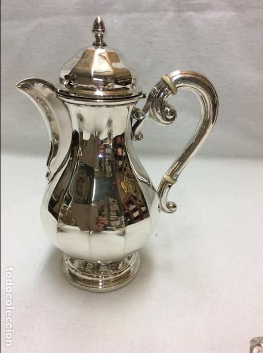 Antigüedades: JUEGO DE CAFE. PLATA DE LEY. - Foto 6 - 83416900