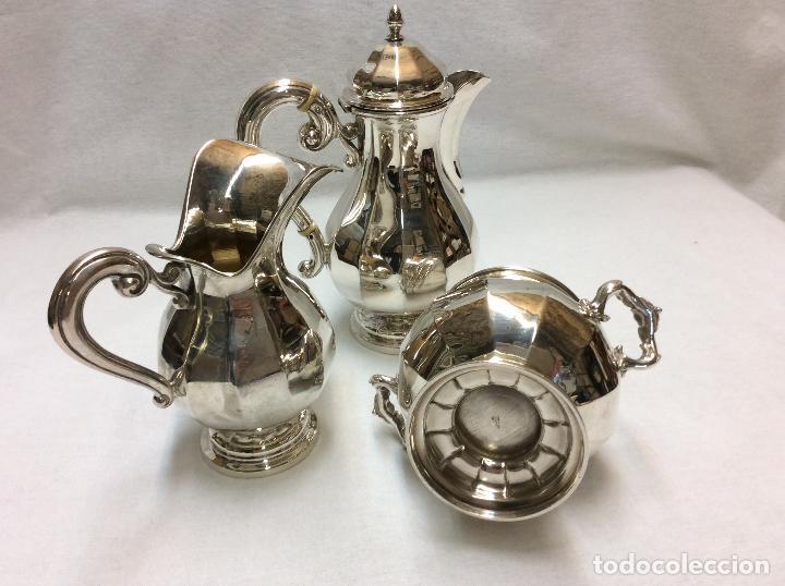 Antigüedades: JUEGO DE CAFE. PLATA DE LEY. - Foto 7 - 83416900