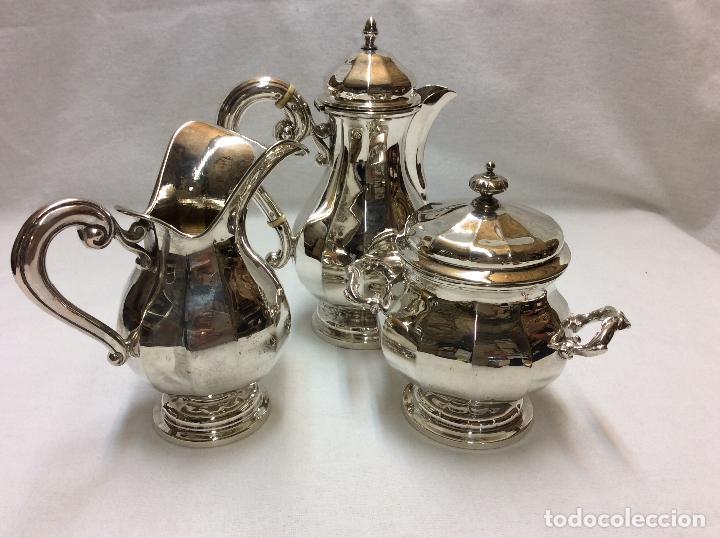 Antigüedades: JUEGO DE CAFE. PLATA DE LEY. - Foto 9 - 83416900