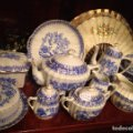 Antigüedades: Juego de te y café porcelana sainte claire. Lote 83418156