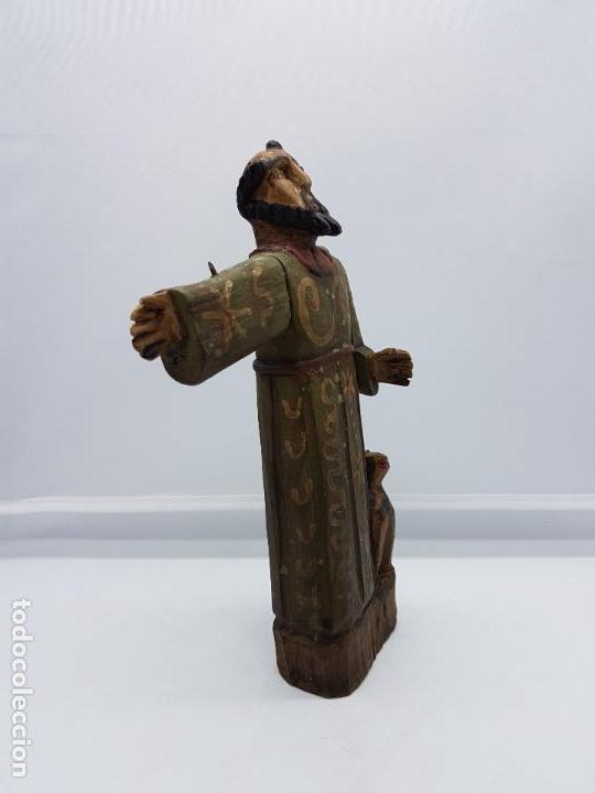 Antigüedades: Antigua talla de fraile en madera policromada a mano de estilo renacentista. - Foto 4 - 83424876