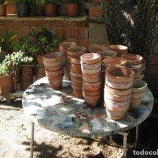 Antigüedades: LOTE DE 12 MACETAS DE TERRACOTA/ARCILLA . Lote 103853015