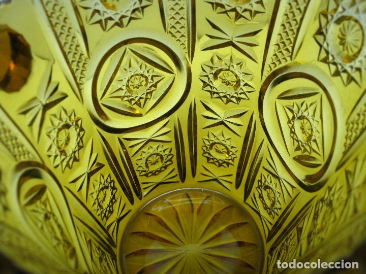 Antigüedades: Cubitera Cristal prensado Cartagena color caramelo - Foto 3 - 83430692