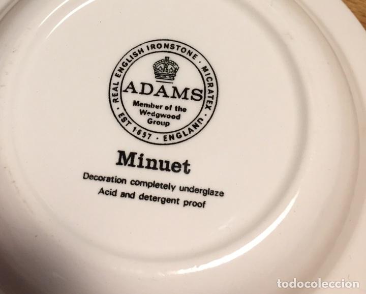 Antigüedades: Plato porcelana WEDGWOOD Inglesa Adams Menue - Foto 2 - 83468912