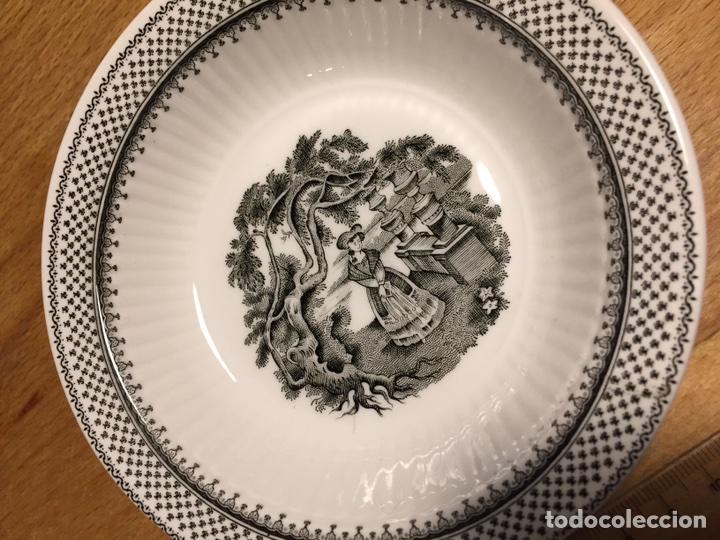 Antigüedades: Plato porcelana WEDGWOOD Inglesa Adams Menue - Foto 3 - 83468912
