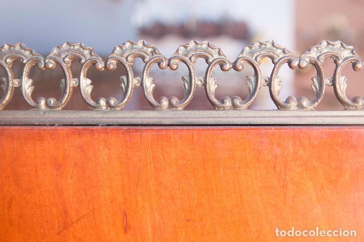 Antigüedades: Antiguo Escritorio - Luis Felipe - Buro, Tapa Cilíndrica - Bombeado - Francia - S. XIX - Foto 12 - 83496084
