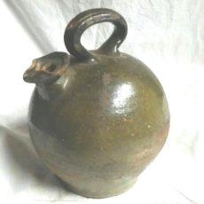 Antigüedades: BOTIJO DE ACEITE CANTIR D'OLI S XIX SANT JULIA DE VILATORTA, VERDE OSCURO. MED. 32 CM ALT. Lote 83573020