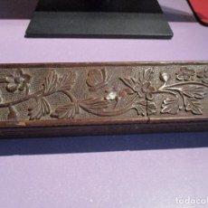 Antigüedades: PLUMIER MADERA ANTIGUO. Lote 83576496