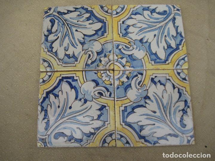 Lote de 4 azulejos antiguos de talavera toled comprar for Azulejos clasicos