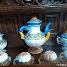 Antigüedades: JUEGO DE CAFE TALAVERA. Lote 80887123