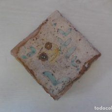Antigüedades: AZULEJO FLORAL. VALENCIA. SIGLO XIX. ORIGINAL¡¡¡. Lote 83671780
