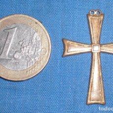 Antigüedades: ANTIGUO CRUCIFIJO CHAPADO ORO. Lote 83683252