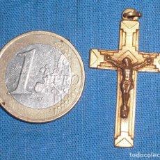 Antigüedades: ANTIGUO CRUCIFIJO CHAPADO ORO. Lote 83683300