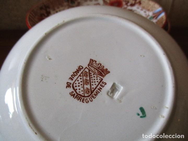 Antigüedades: platos plato sarreguemines porcelana - Foto 2 - 83707524