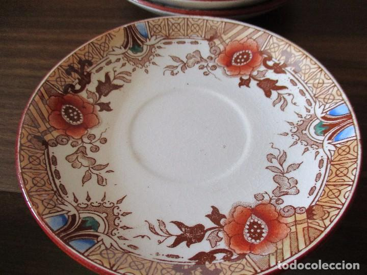 Antigüedades: platos plato sarreguemines porcelana - Foto 3 - 83707524