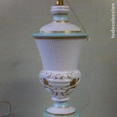 Antigüedades: PIE PARA LAMPARA DE SOBREMESA, CERÁMICA MANISES.. Lote 83710008
