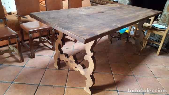 Antigüedades: Imponente mesa de nogal con pata de lira - Foto 2 - 83712580