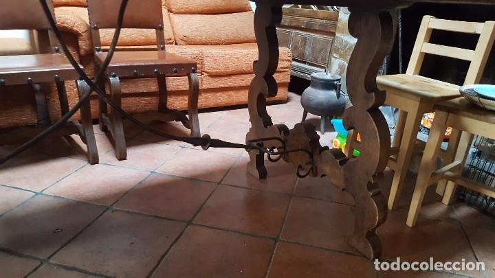 Antigüedades: Imponente mesa de nogal con pata de lira - Foto 5 - 83712580