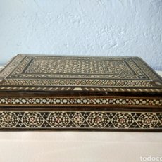 Antigüedades: CAJA INDOPORTUGUESA MARQUETERIA *. Lote 83718156