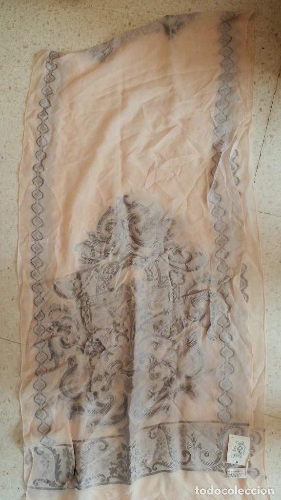Antigüedades: ANTIGUO CHAL FULAR de EL CORTE INGLES. SEDA. SIN ESTRENAR ETIQUETA 7500 PTA - Foto 3 - 83723208