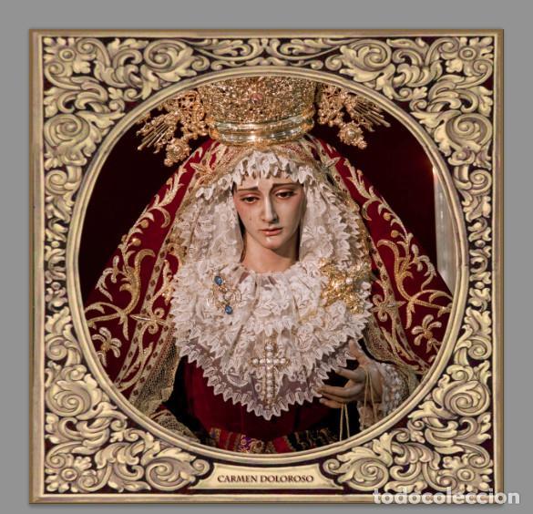 AZULEJO 20X20 DE LA VIRGEN DEL CARMEN DOLOROSO DE SEVILLA (Antigüedades - Religiosas - Varios)
