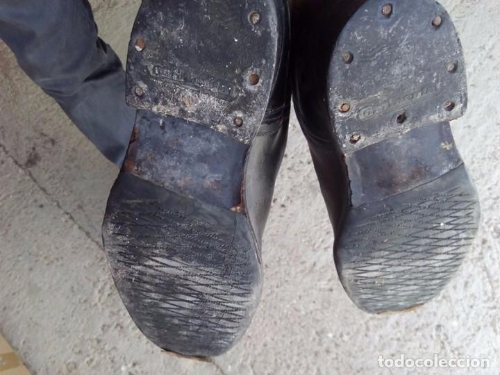 Antigüedades: botas antiguas de montar a caballo piel - Foto 2 - 83725556