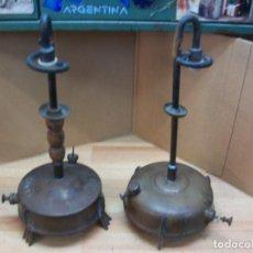 Antigüedades - PAREJA DE 2 FAROLES DE BRONCE - 83802332
